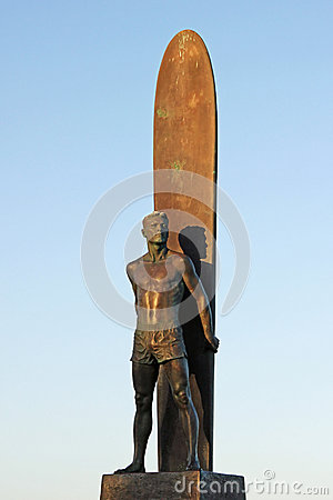 Santa Cruz Surfer Statue in California