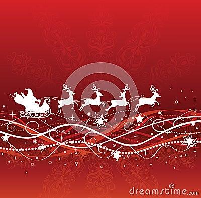 Santa and deers.