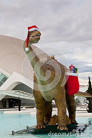Santa Dinosaur