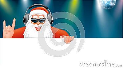 Santa dj banner
