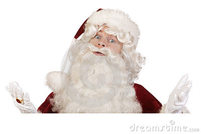 Santa don t know banner