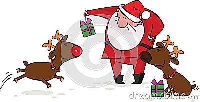 Santa e renna