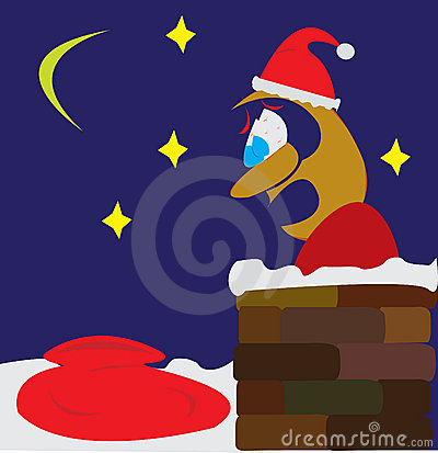 Santa employee in panic