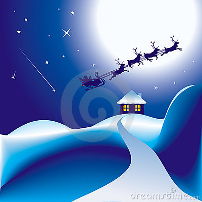 Santa et son traîneau