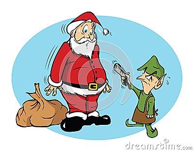 Santa and an evil elf