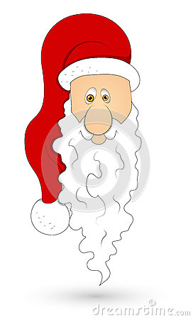 Santa Face Vector Illustration