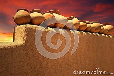 Santa Fe Pottery Stock Photo Image 34459880