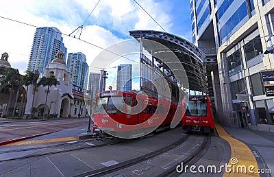 A Santa Fe Trolley Station Shot, San Diego Editorial Photography