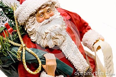 Santa Figurine/Gifts and List