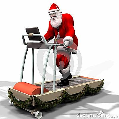Free Santa Fitness 1 Stock Image - 1349941