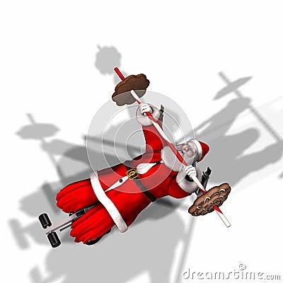 Santa Fitness 3 Stock Image Image 1355401