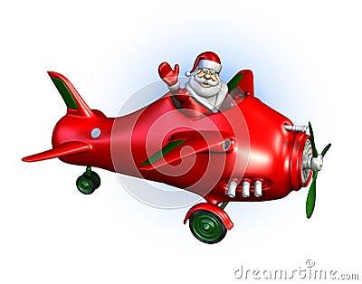 Santa Flying a Plane 2