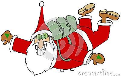 Santa in free fall