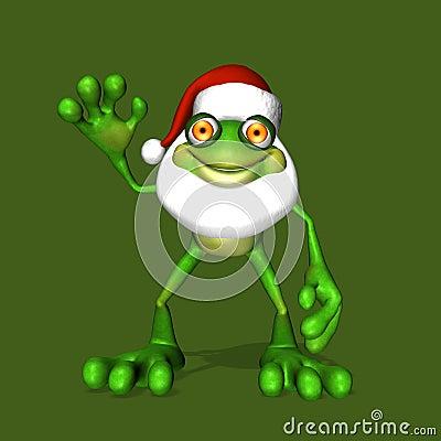 Free Santa Frog Stock Image - 2650791