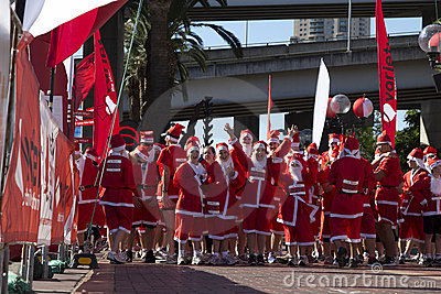 Santa fun run Editorial Image