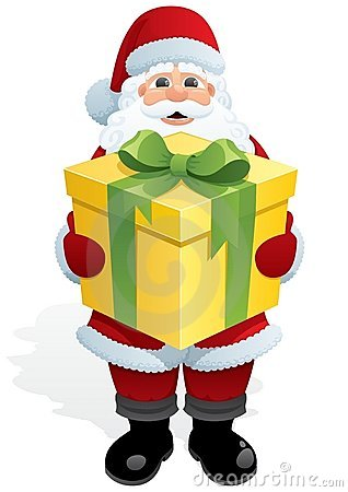 Santa Gift Royalty Free Stock Photos - Image: 15794958