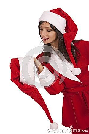 Santa girl appeal to xmas hat