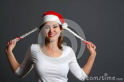 Santa girl laugh