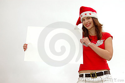 Santa girl with sign