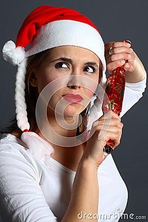 Santa girl wondering