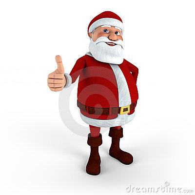 Santa giving thumbs-up