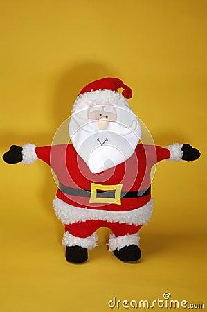 Santa on gold