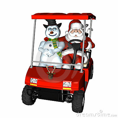 Free Santa Golf 2 Royalty Free Stock Photography - 1588027