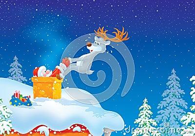 Santa got stuck in chimney
