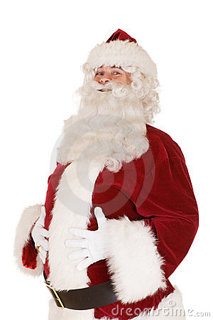 Santa with hands on belly