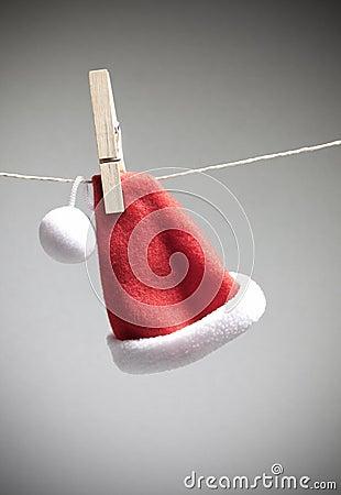 Santa hat on cord