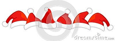 Santa hat divider