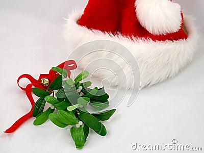 Santa Hat & Mistletoe