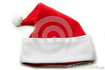 Santa Hat on white.