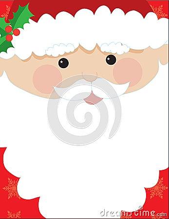 Santa Head Frame