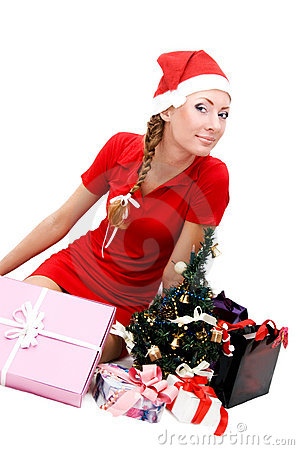 Santa helper and gifts