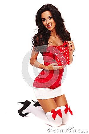 Free Santa Helper On White Background Stock Photography - 16769512