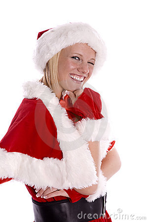 Santa helper winking