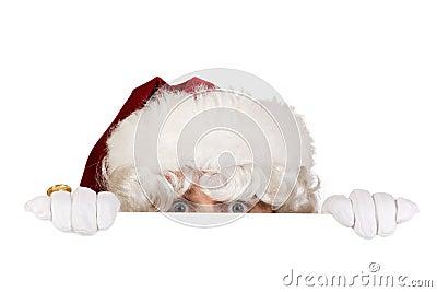 Santa hiding border