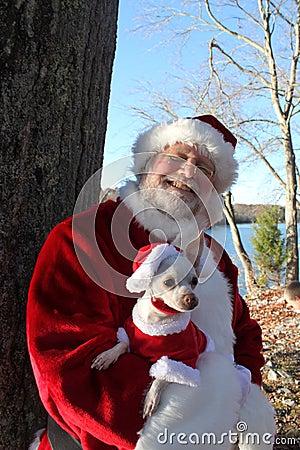 Santa With His Dog