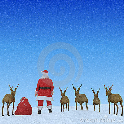 Santa & His Reindeers Clouds