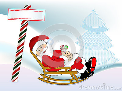 Santa in his rocking chair