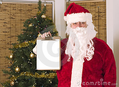 Santa holding list for your text