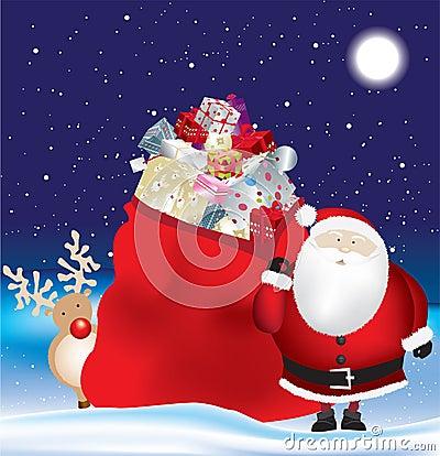 Santa and huge sack