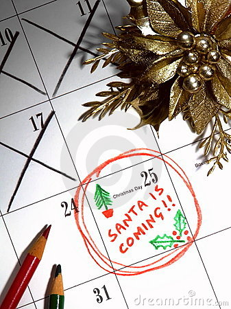 Free Santa Is Coming Royalty Free Stock Images - 6223789