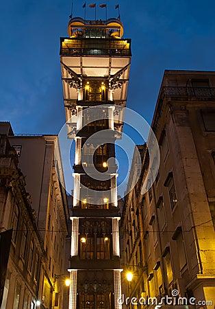 Santa Justa Lift at dusk