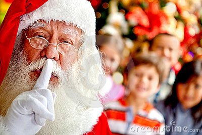 Santa keeping it quiet