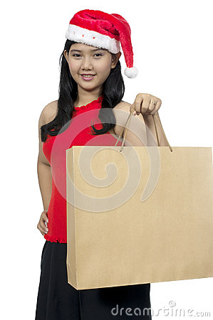 Santa Lady Shopping