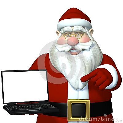 Santa Laptop 1