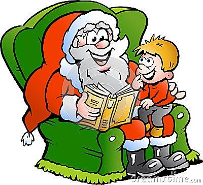Santa and a little boy