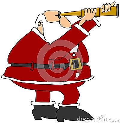 Santa Looking Through A Scope